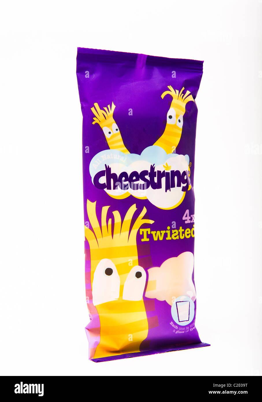 cheestrings 'cheese strings' - Stock Image