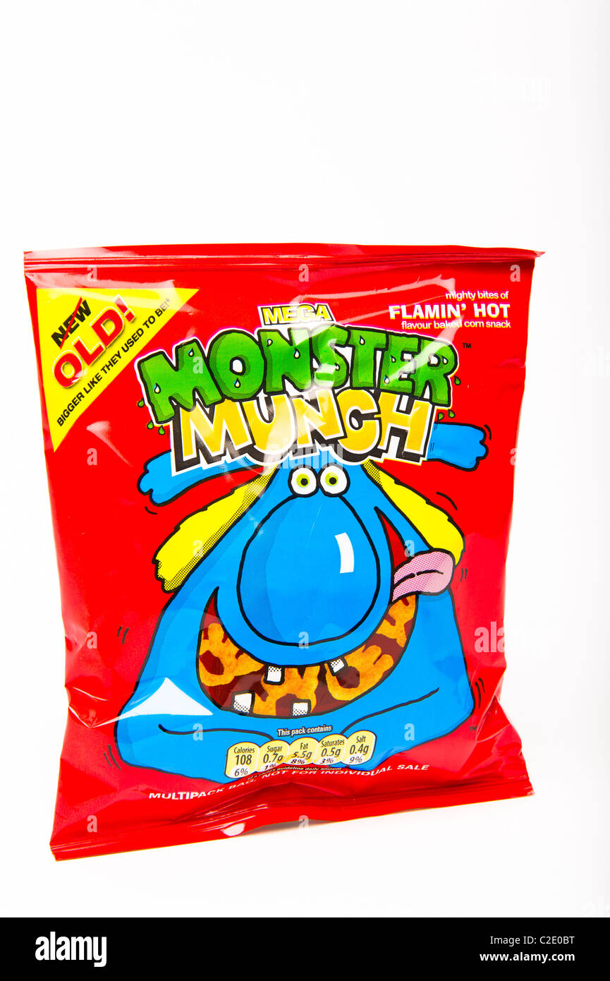 flamin hot monster munch - Stock Image