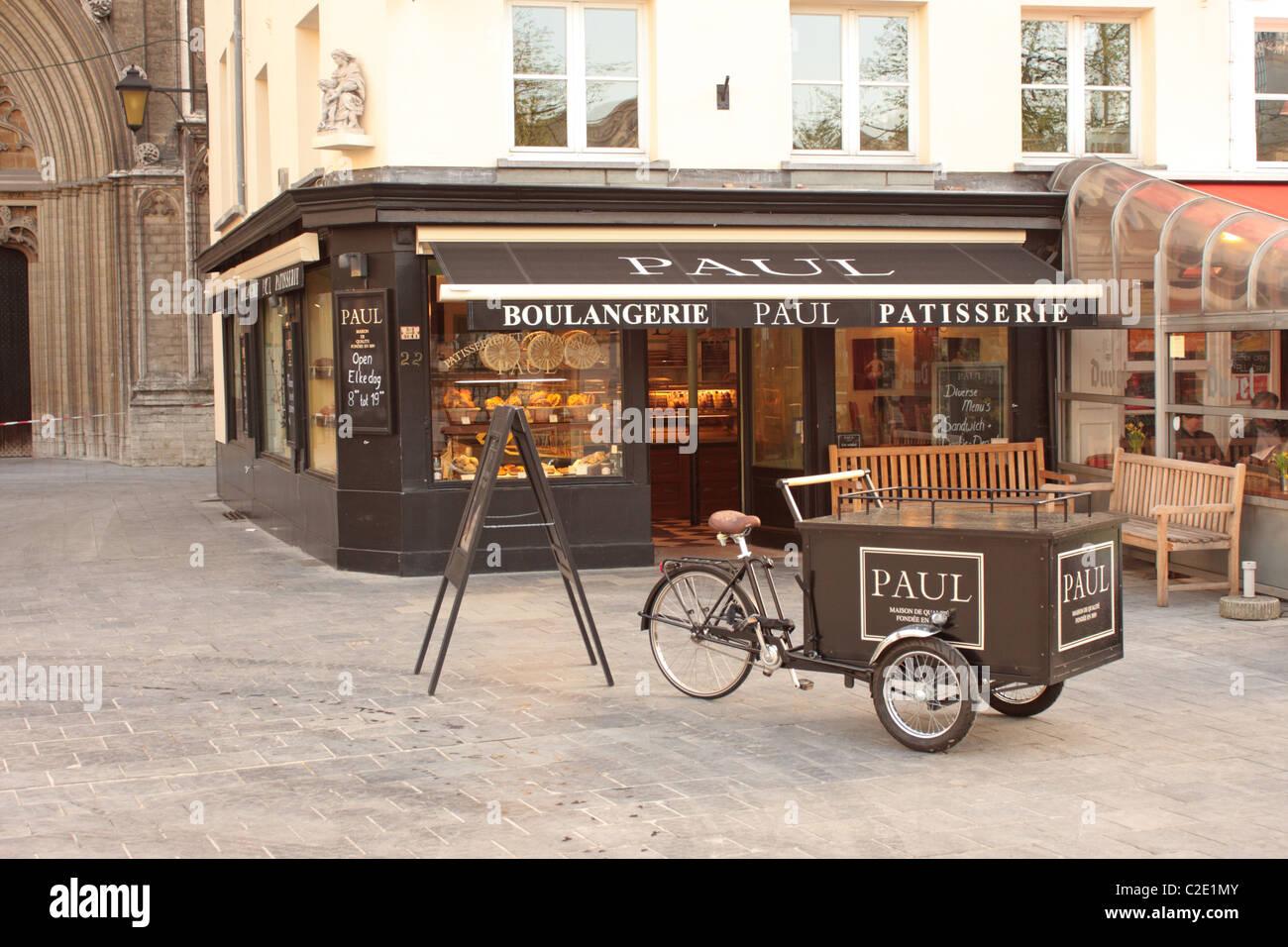 A Boulangerie Patisserie Groenplaats Antwerp Belgium - Stock Image