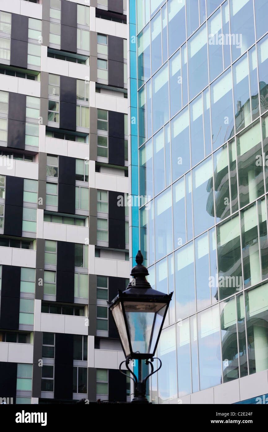 Glass fronted buildings in Liverpool. - Stock Image