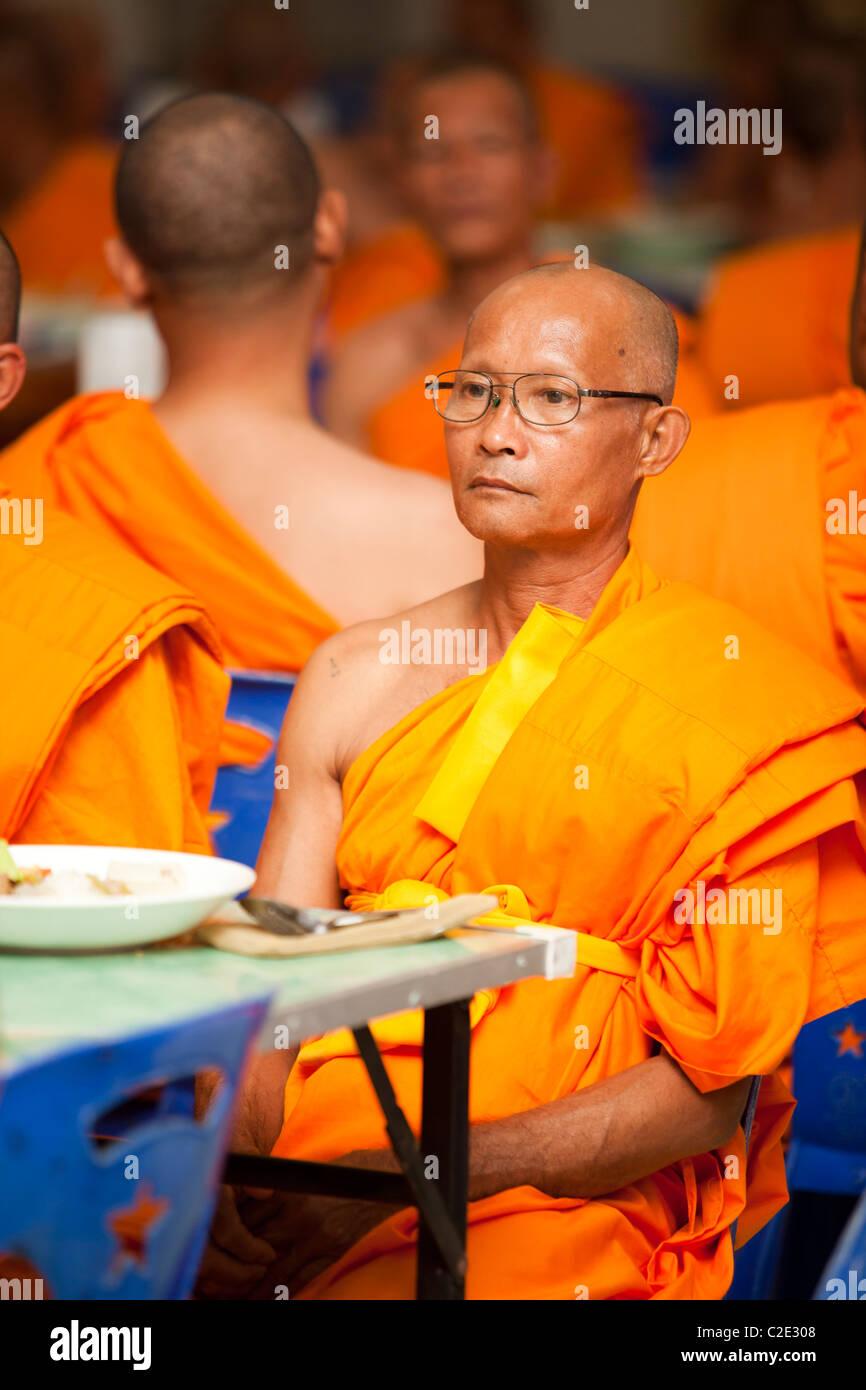 Thai man be monk 'Khon Sook', it`s rite of passage for all Thai man, Wat Chedi Sao, Lampang, Thailand - Stock Image