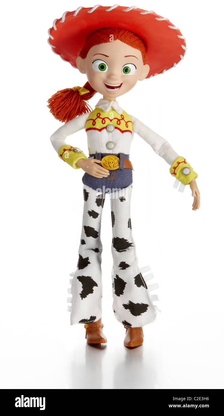 Jessie toy story film soft toy official merchandise - Stock Image