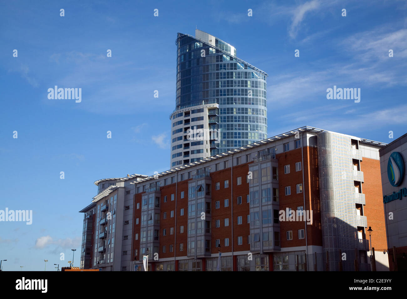 Modern architecture buildings Portsmouth Hampshire England - Stock Image