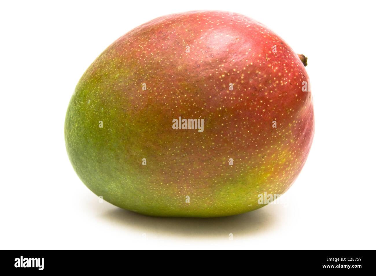 Mango isolated over white background - Stock Image