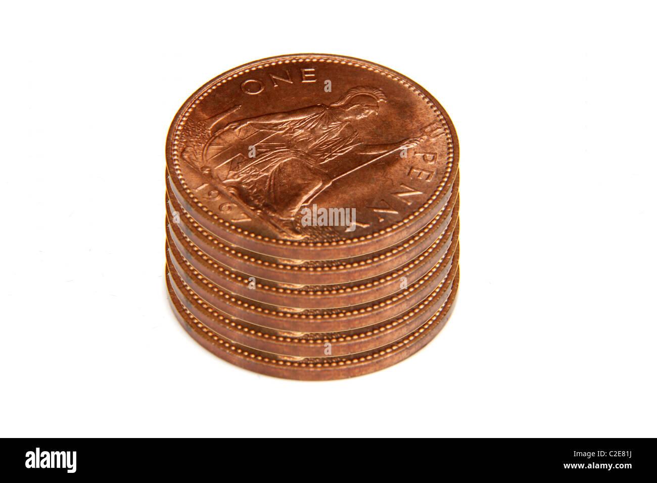 Pre Decimal Coins Stock Photos & Pre Decimal Coins Stock