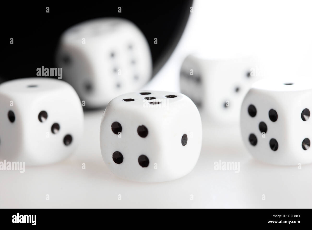 White dices. - Stock Image