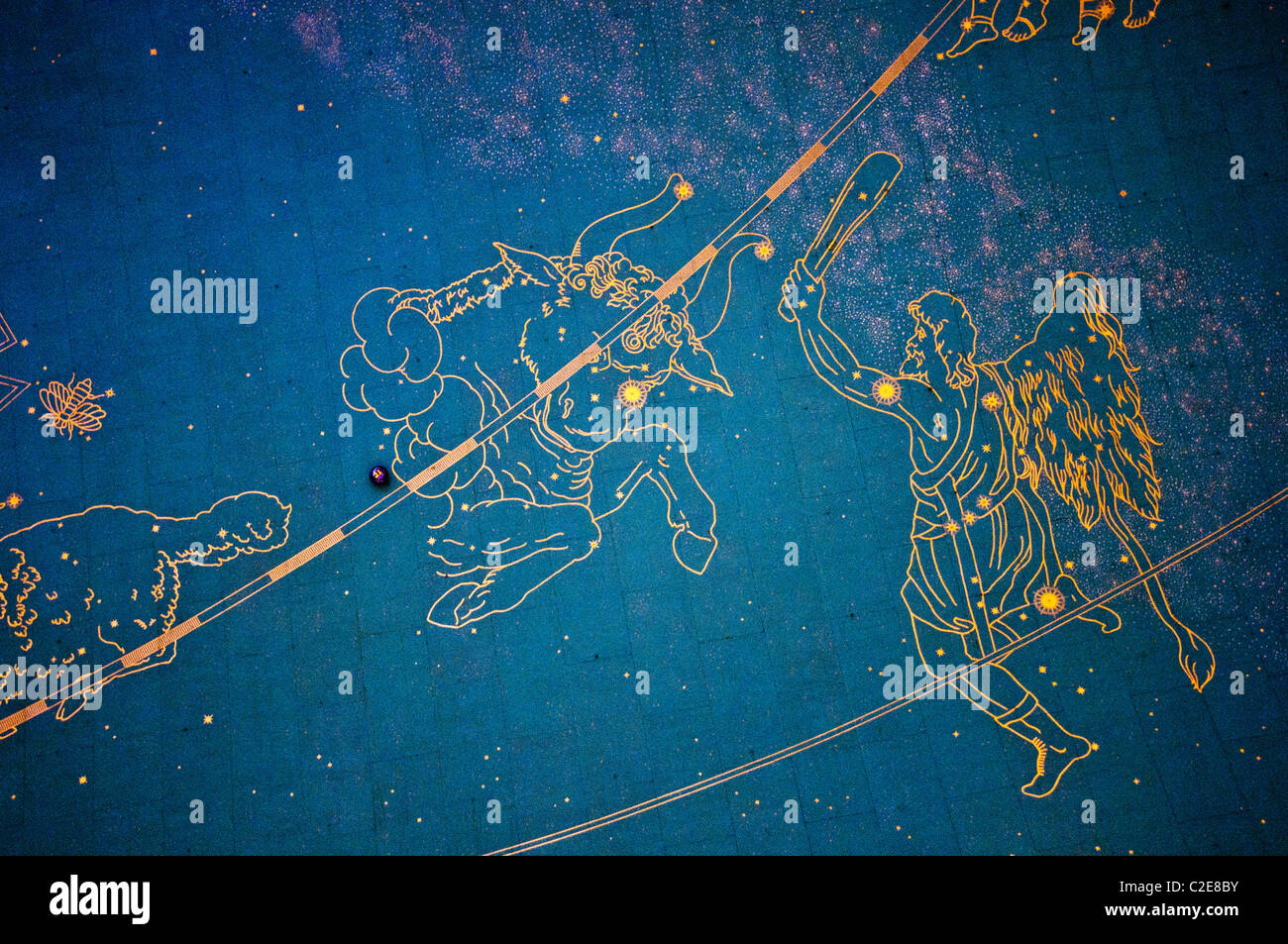 Orion And Taurus Star Constellations On The Ceiling Of