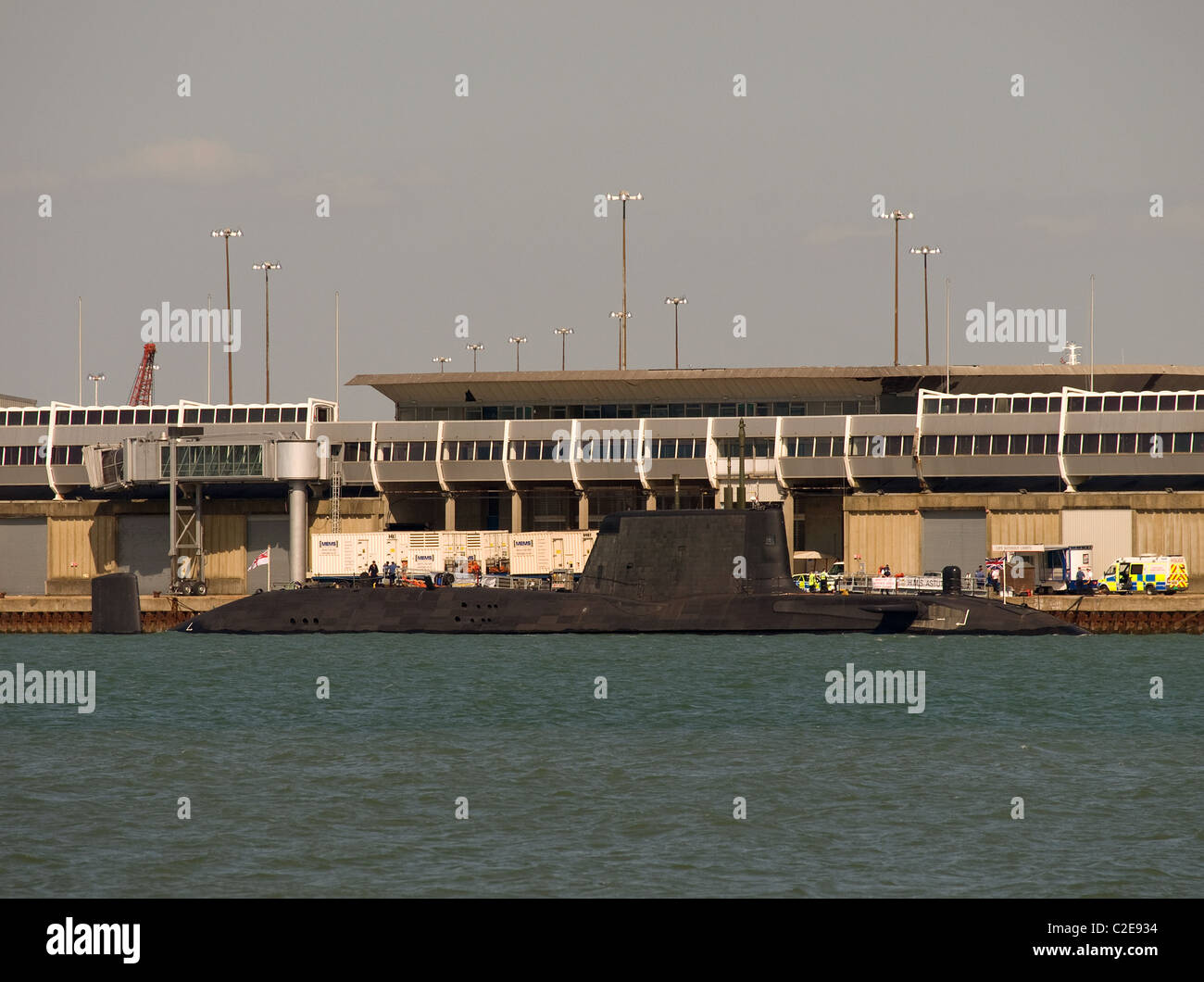 Nuclear powered submarine HMS Astute berthed in Southampton Hampshire England UK - Stock Image