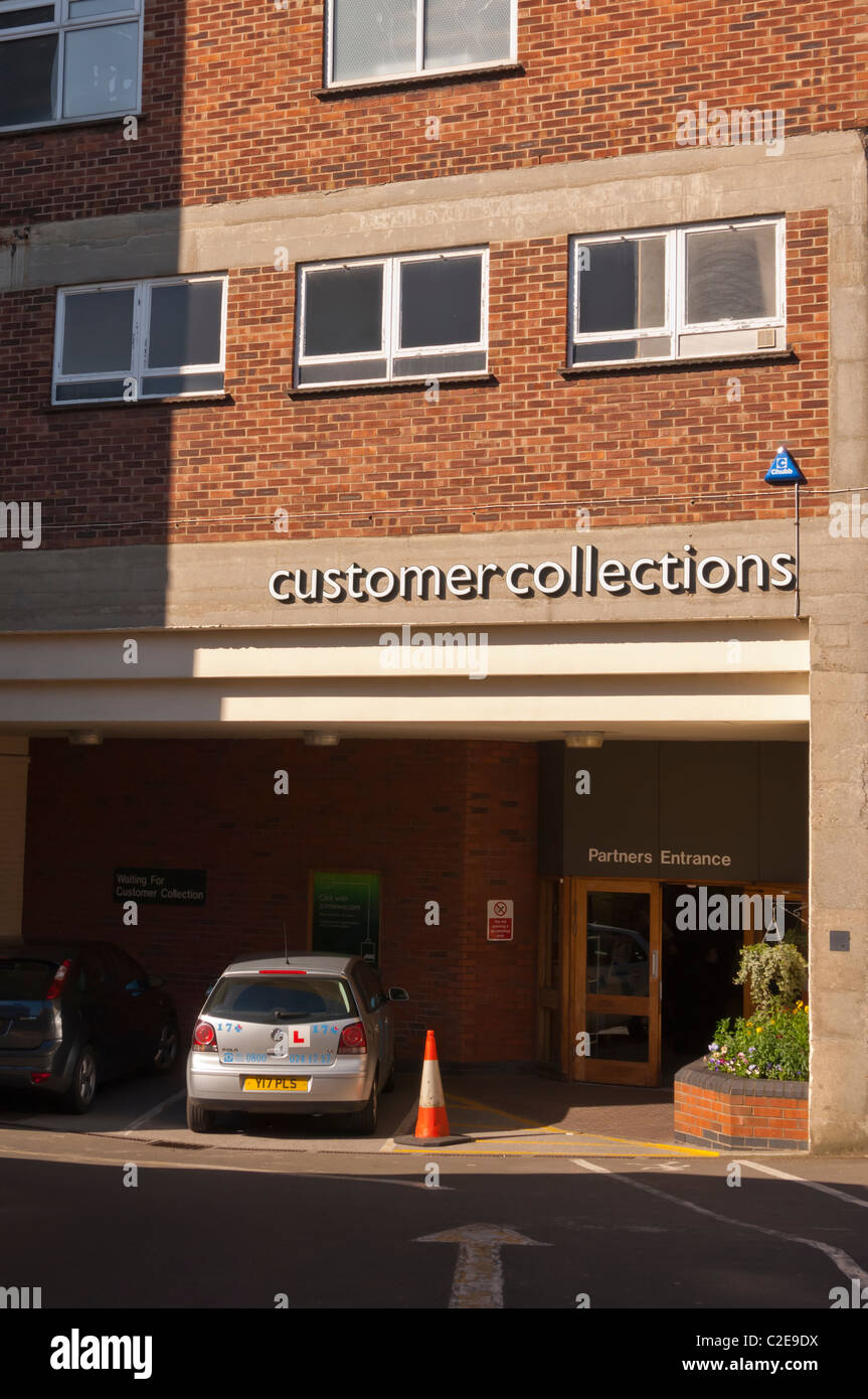 The customer collection point at John Lewis shop store in Norwich , Norfolk , England , Britain , Uk - Stock Image