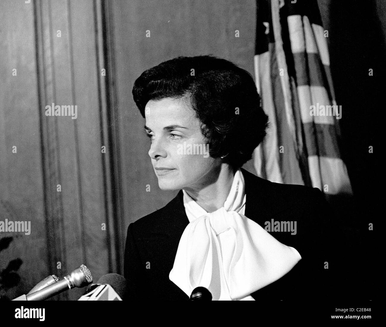 President of the San Francisco board of Supervisors, Dianne Feinstein becomes San Francisco California - Stock Image