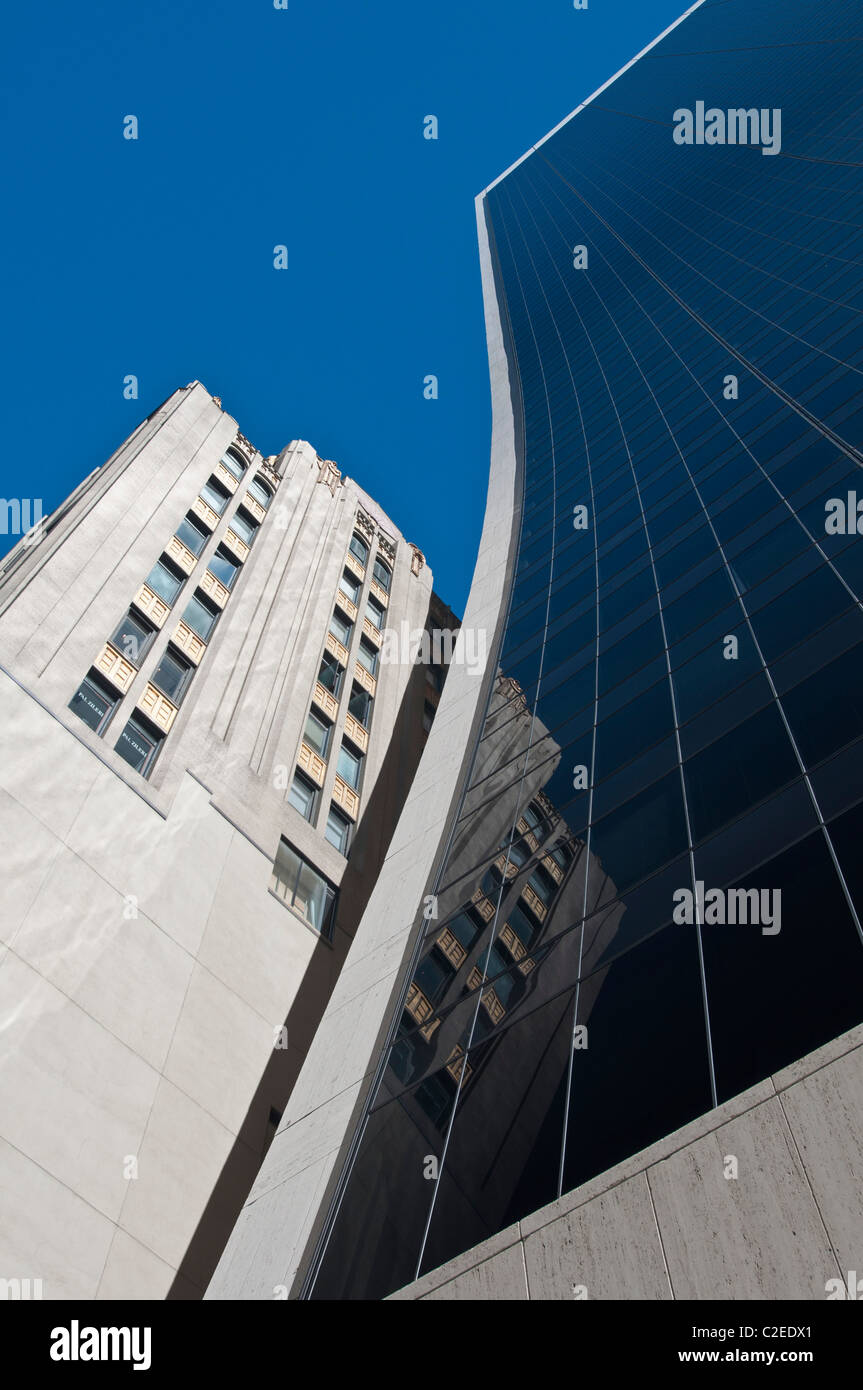 Solow Building with vertical slope, 9 West 57th Street, Manhattan, New York City, USA - Stock Image