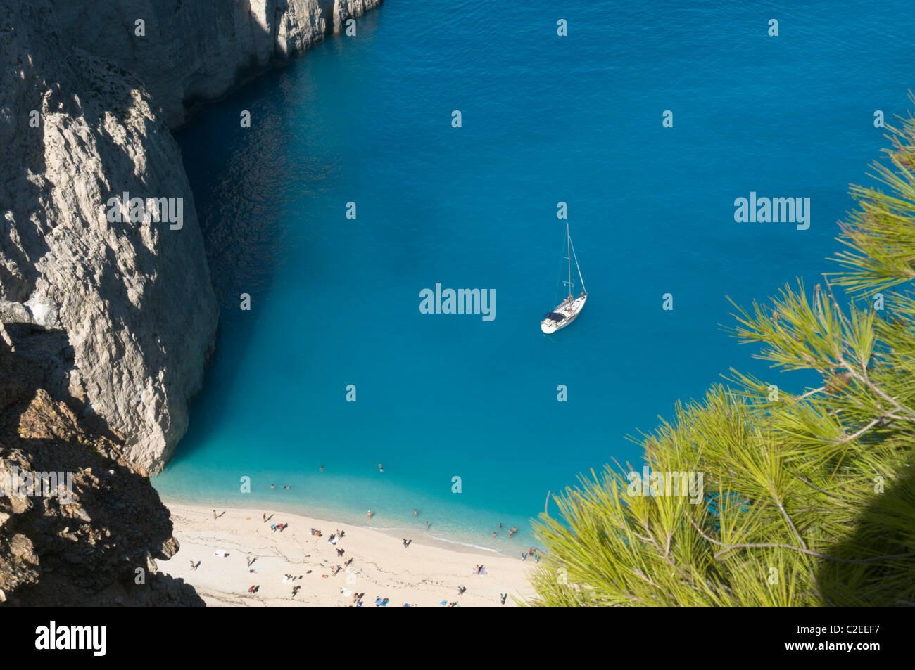 Navagio Bay Zakynthos Greece - Stock Image