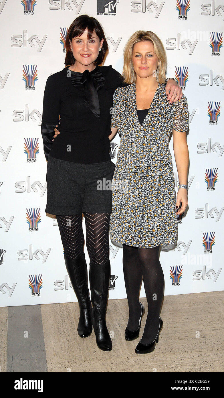 Liz Carling and Georgina Bouzova SKY Send Off Party for MTV Europe Music Awards at Bloomsbury Ballroom London, England Stock Photo