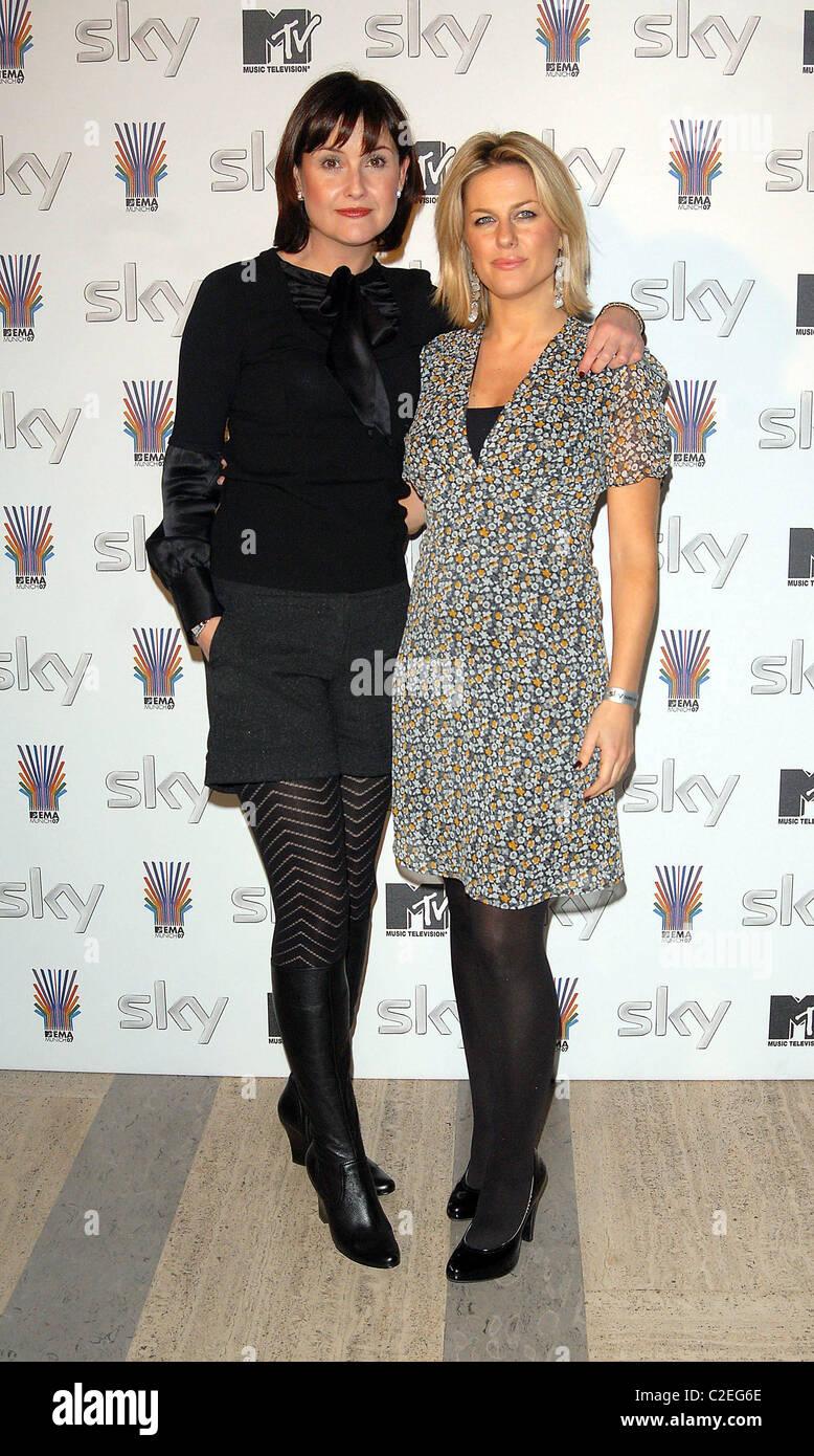 Liz Carling and Georgina Bouzova SKY Send Off Party for MTV Europe Music Awards at Bloomsbury Ballroom London, England Stock Photo