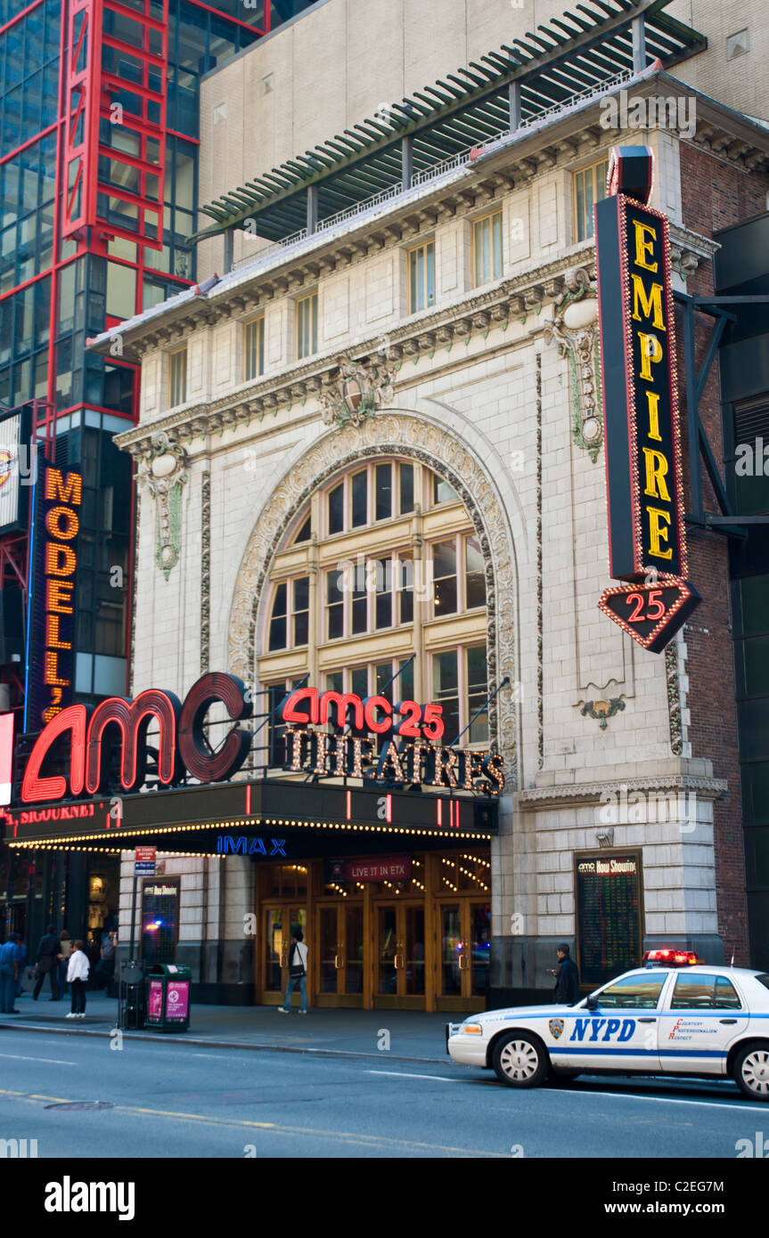 AMC 25 cinema, movie IMAX, theater, West 42nd St, Manhattan, New York City, USA - Stock Image