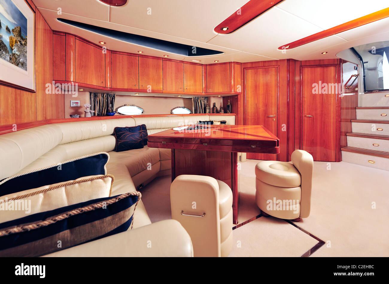 Luxury yacht interior - Stock Image