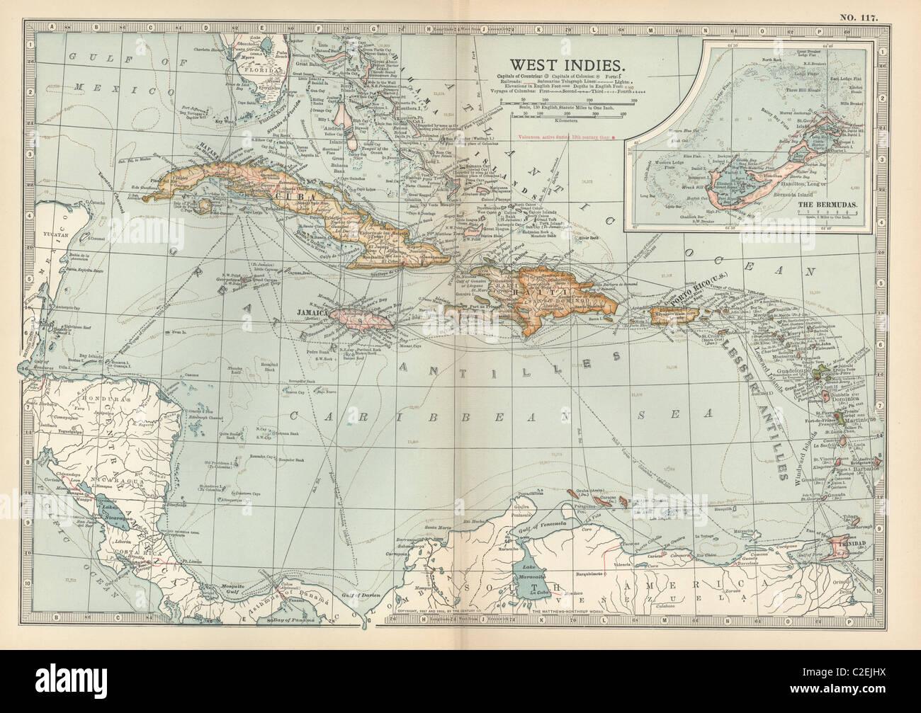 British West Indies Map Stock Photos & British West Indies Map Stock ...