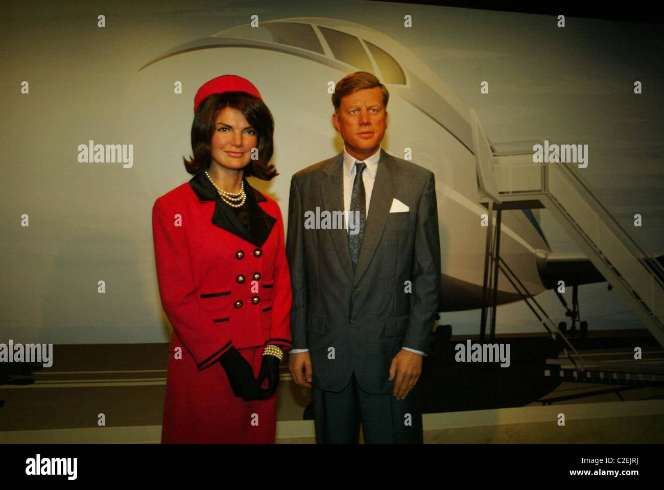 d2102482b19 Jackie Kennedy and John F. Kennedy Madame Tussauds held a gala to open its  new wax museum in the nation s capitol Washington