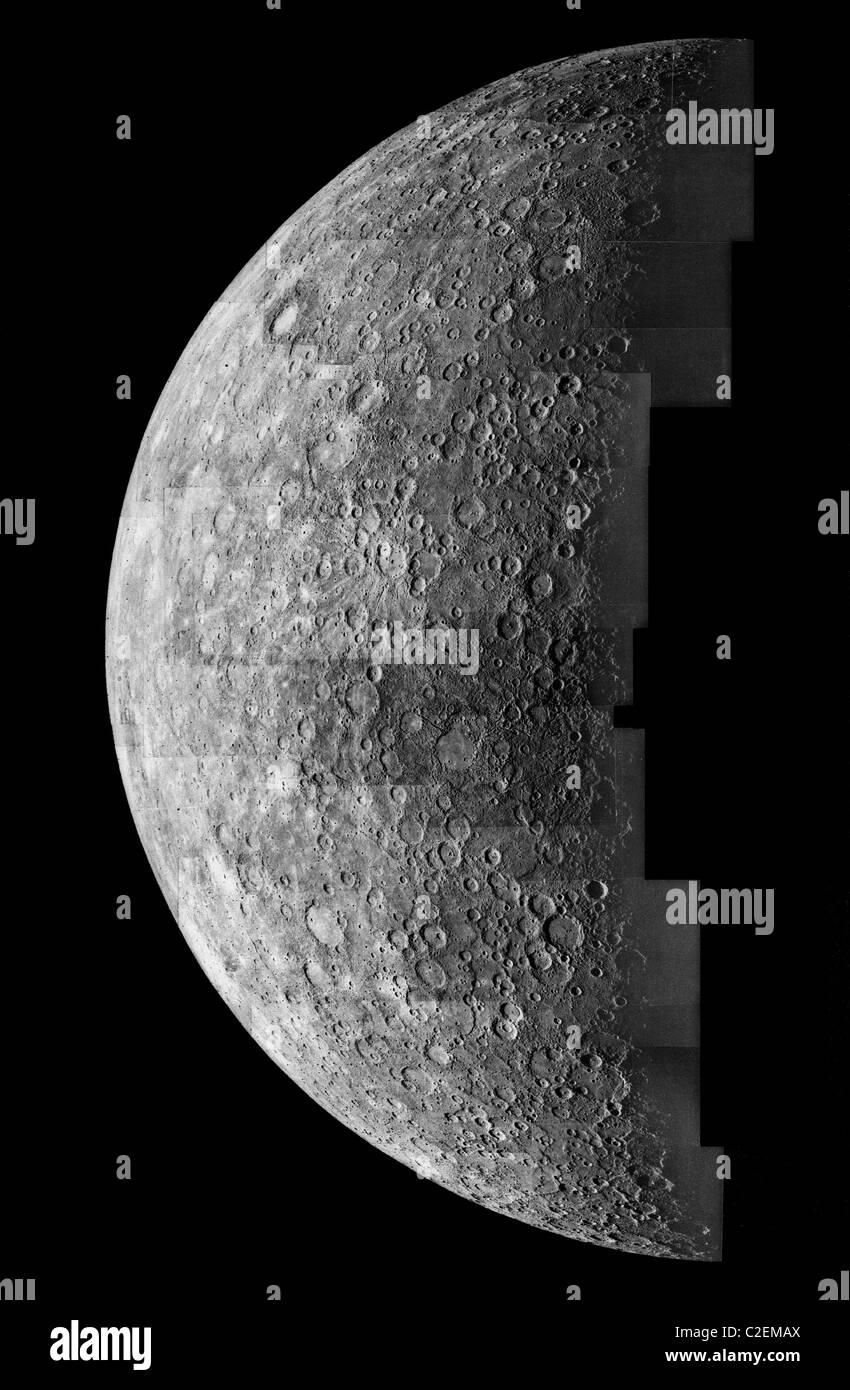 Photo mosaic of images of Mercury - Stock Image