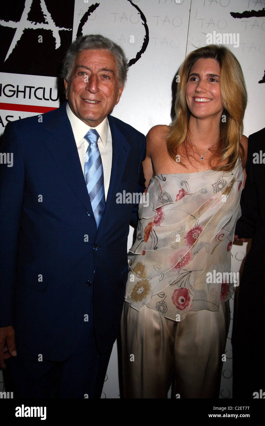 Tony Bennett and  Susan Crow Underprivileged Youth Benefit Sponsored By Versace TAO Nightclub at Venetian Hotel - Stock Image