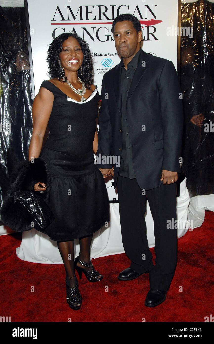 Pauletta Washington And Denzel Washington New York
