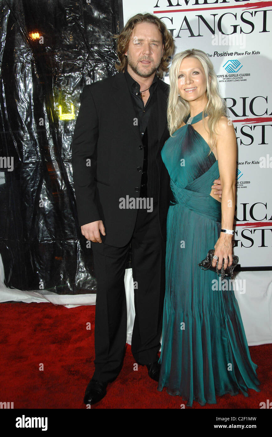 Russell Crowe, Danielle Spencer New York Premiere of 'American Stock