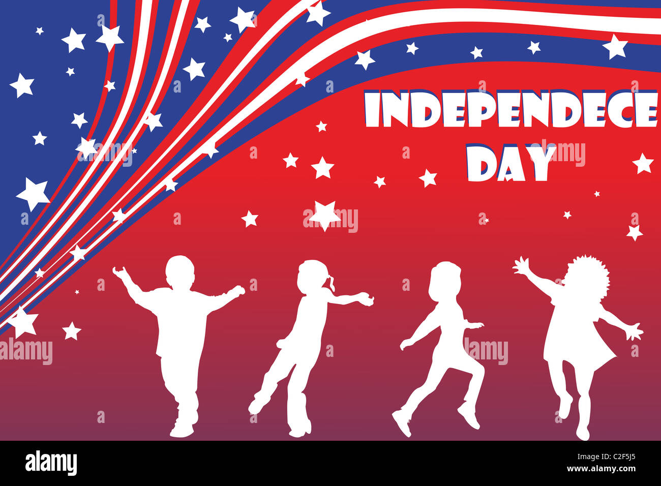 background illustration for Independence day - Stock Image