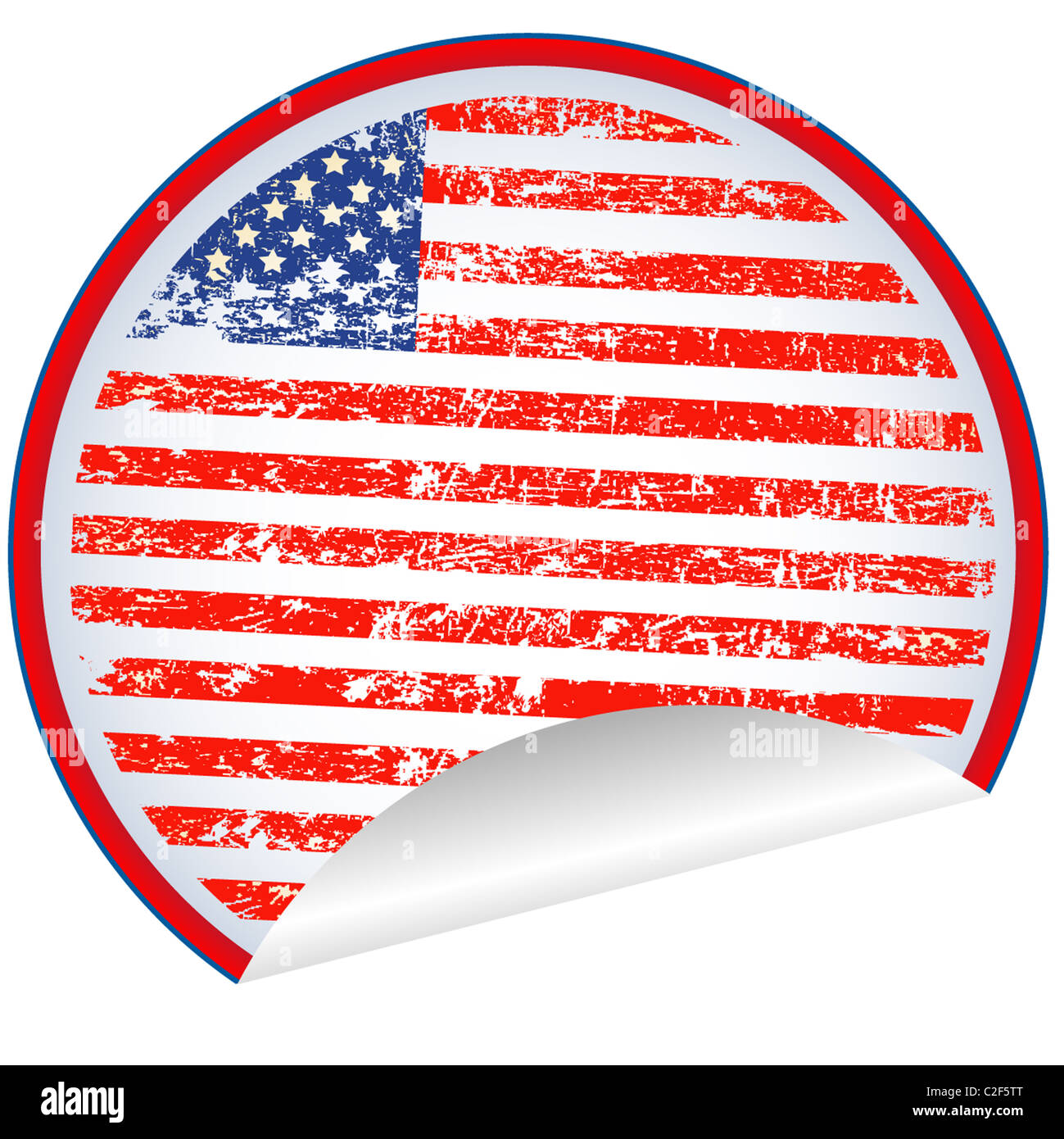 USA label - Stock Image
