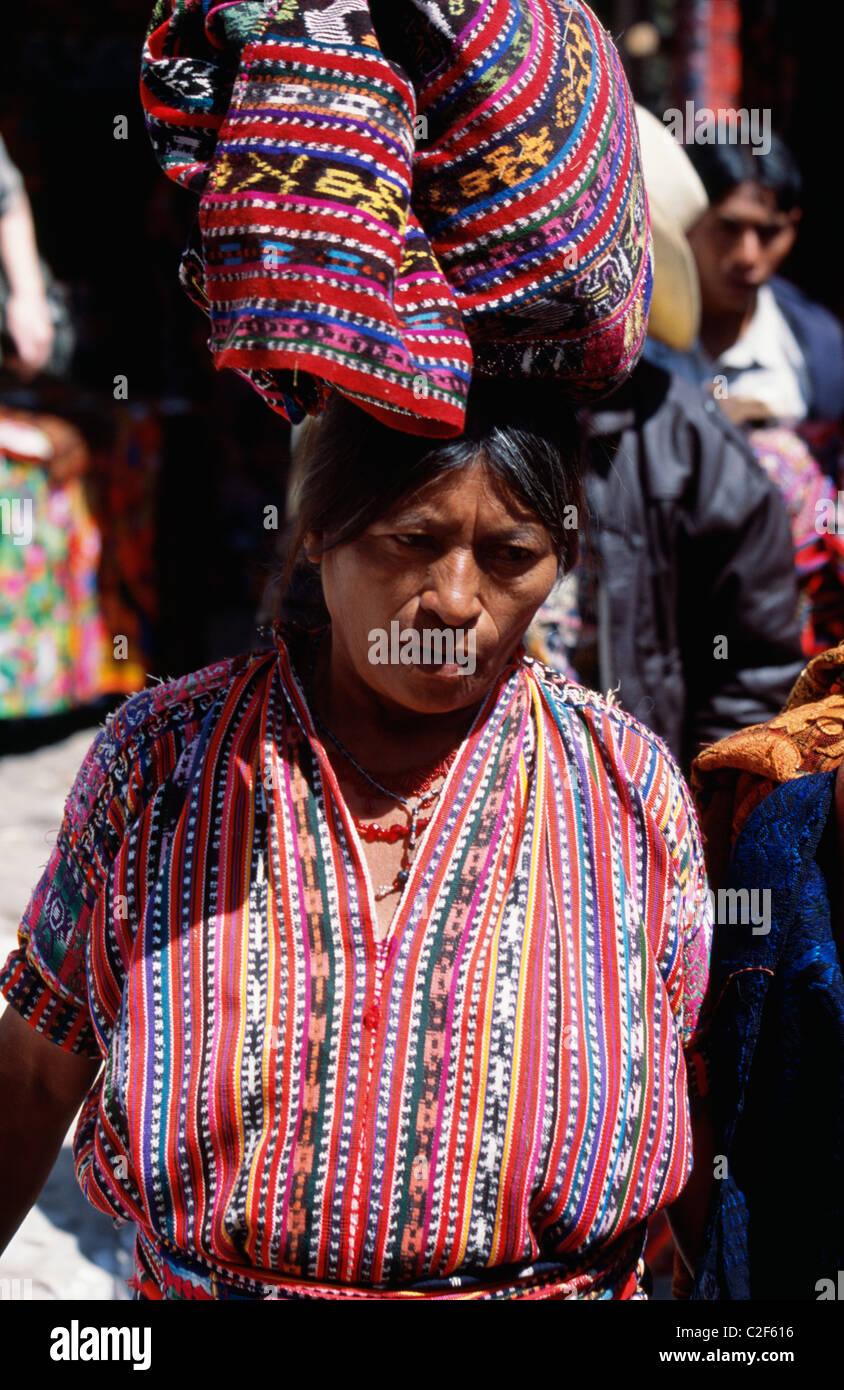 Santiago Atitlan Western Highlands Guatemala - Stock Image