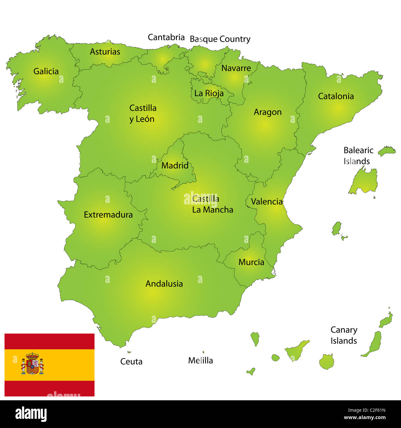 Map Spain Stock s & Map Spain Stock Alamy