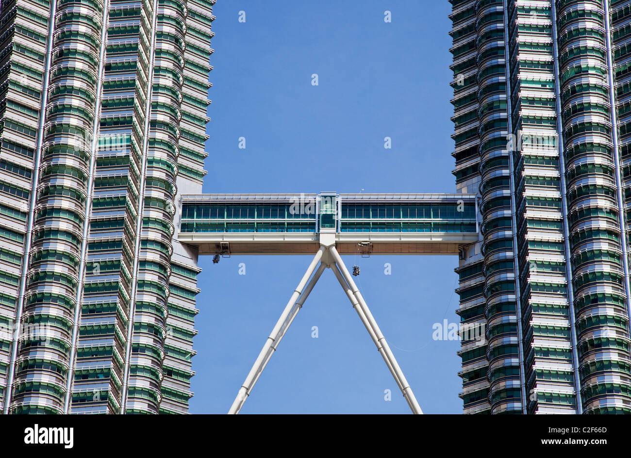 Skybridge, The Petronas Towers, Kuala Lumpur - Stock Image