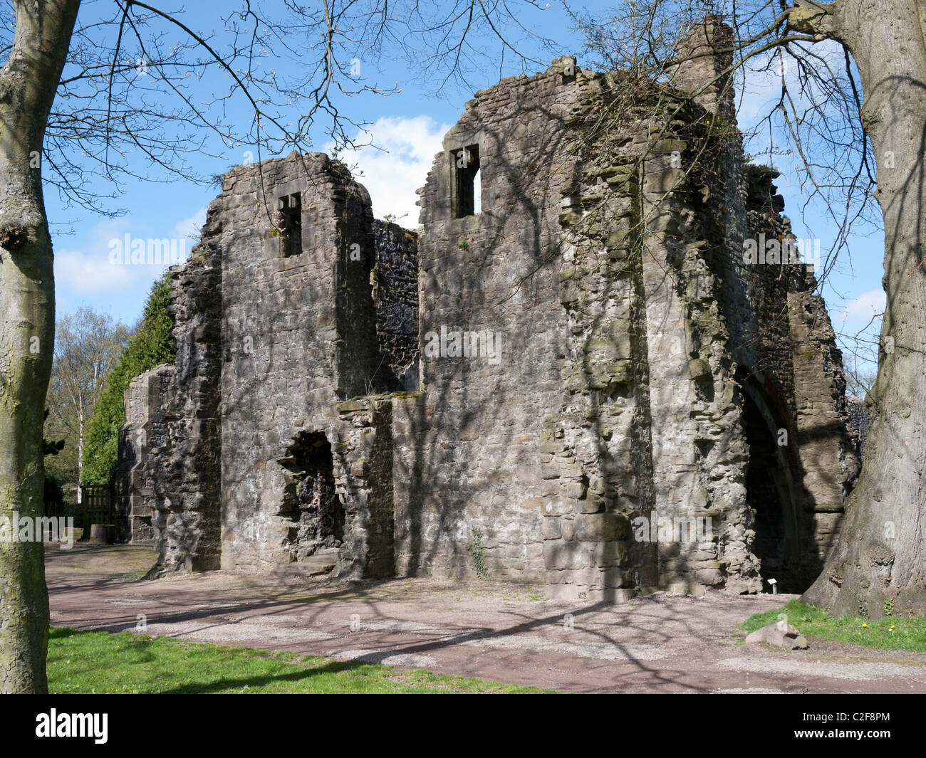 Ruins of Whalley Abbey, Whalley, Clitheroe, Lancashire, England, UK. - Stock Image