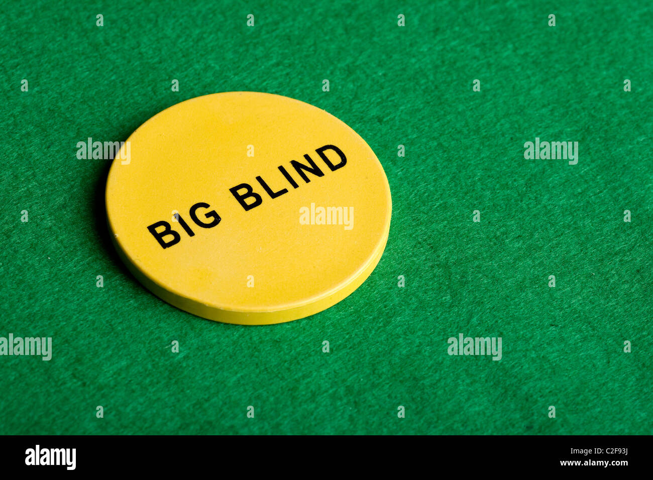 A Big Blind Chip For Poker Stock Photo 35986486 Alamy