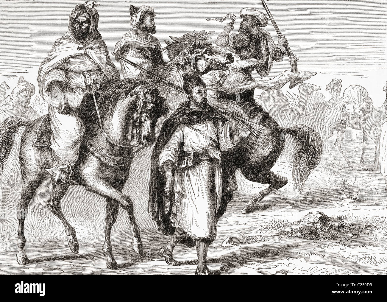 Moors in the 19th century. - Stock Image
