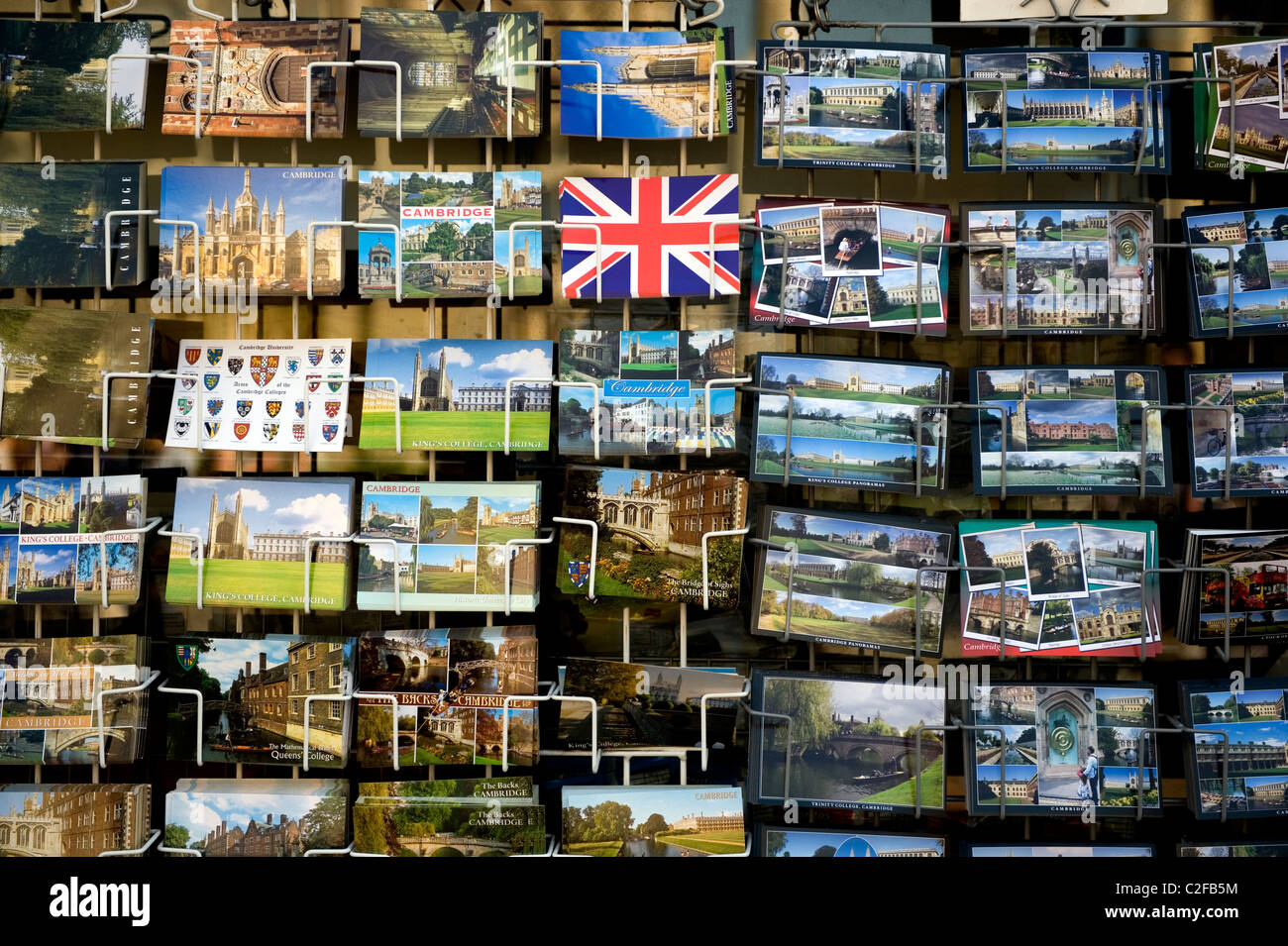 Cambridge,United Kingdom,April 2011. Postcards of Cambridge,England. - Stock Image