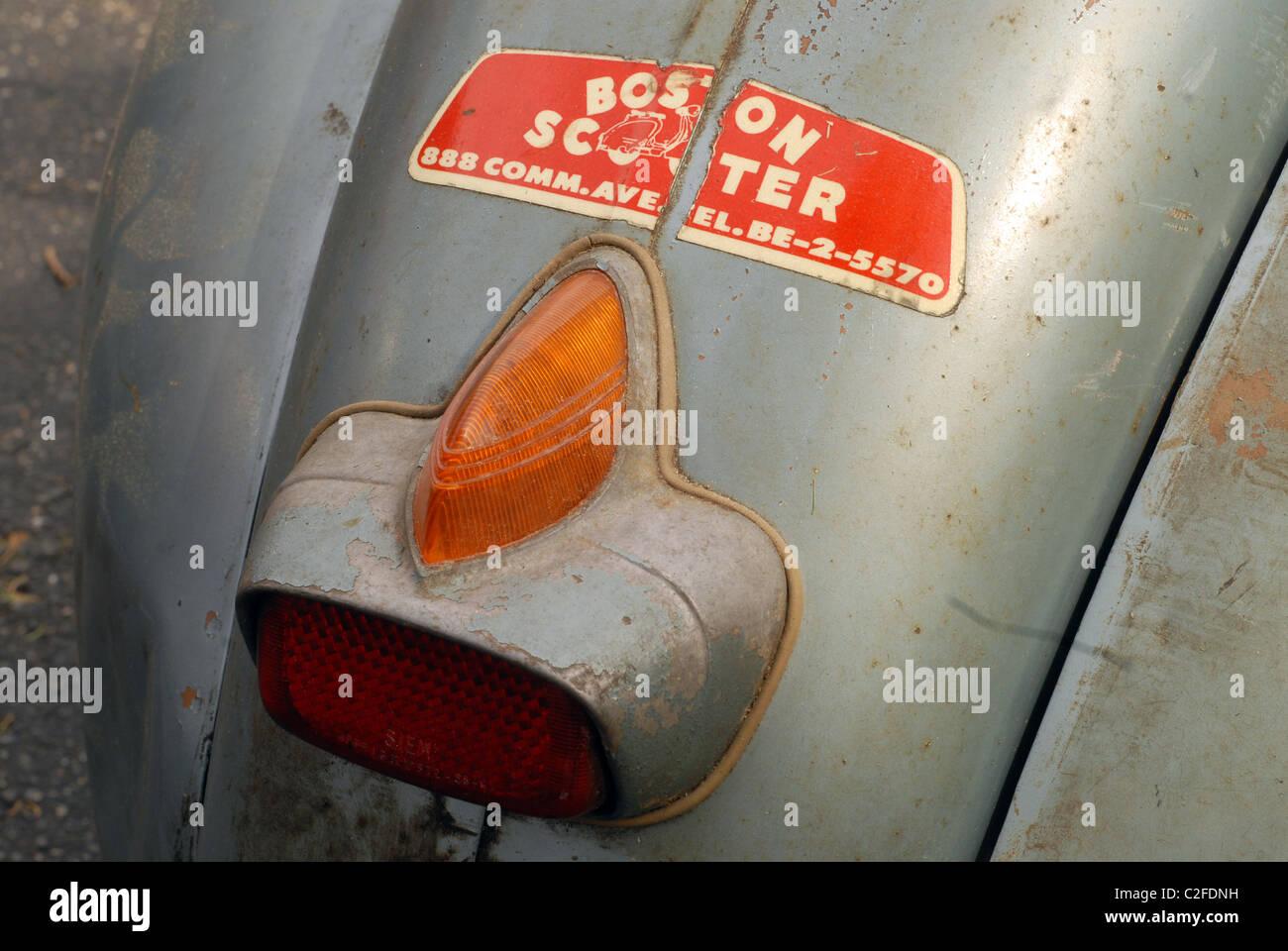 Vintage Vespa acorn-style tail light. 1960 Vespa 150 VBA ...