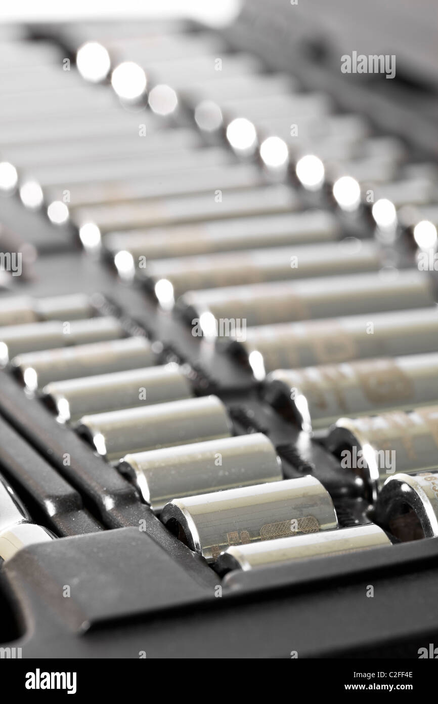 Socket wrench set in case. Stock Photo