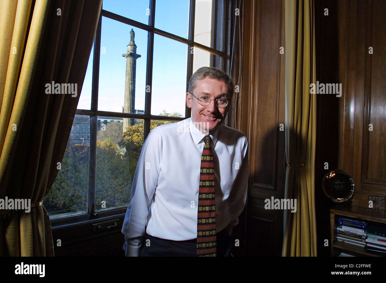 Sir Fred Goodwin ex-Chief Executive of the Royal Bank of Scotland,  in his office in St. Andrews Square, Edinburgh - Stock Image