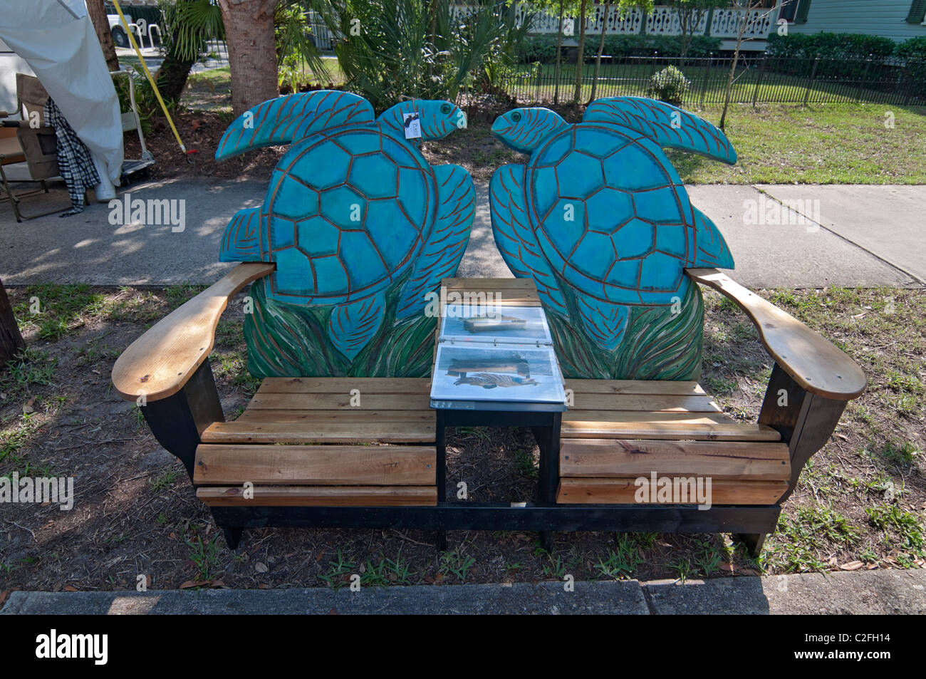 Turtle Motif Adirondack Chairs On Sale At The Spring Arts Festival
