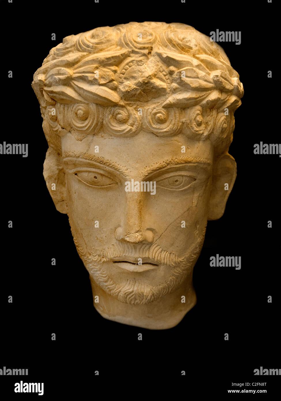 2 Cent Palmyra Syria Syrian Museum - Stock Image