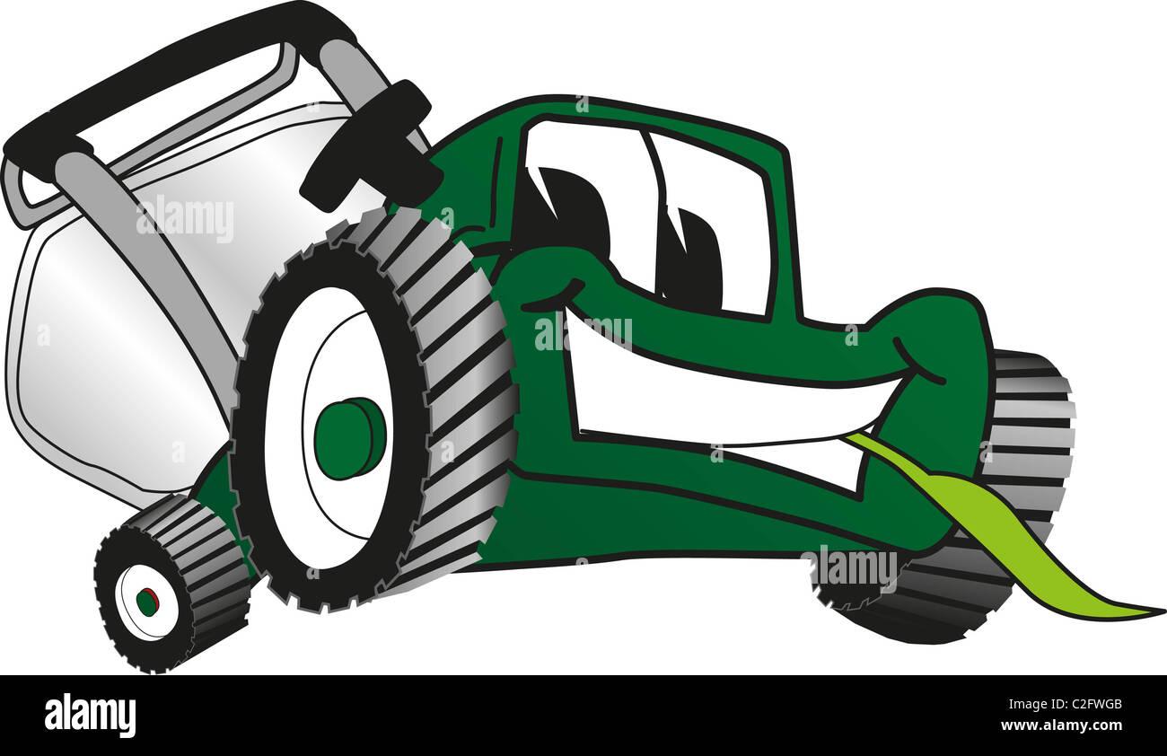 Cartoon Lawn Mower Clip Art Stock Photo