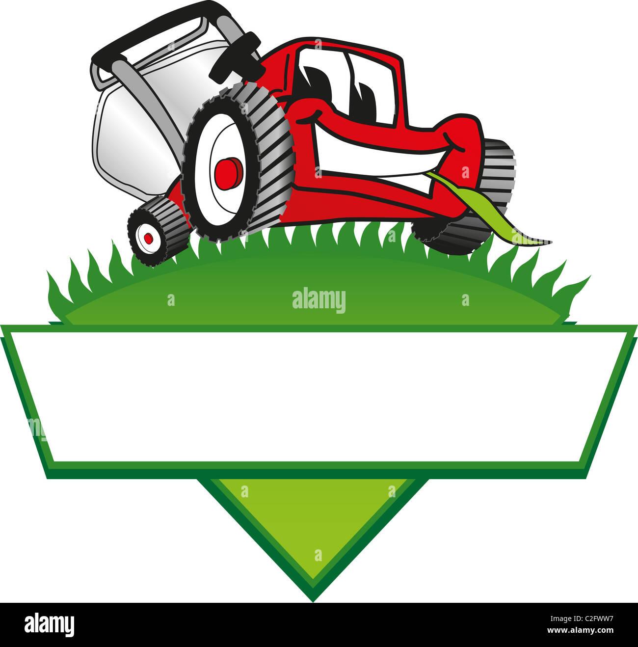 cartoon lawn mower logo template stock photo 35999635 alamy rh alamy com lawn care logos lawn care logos vector