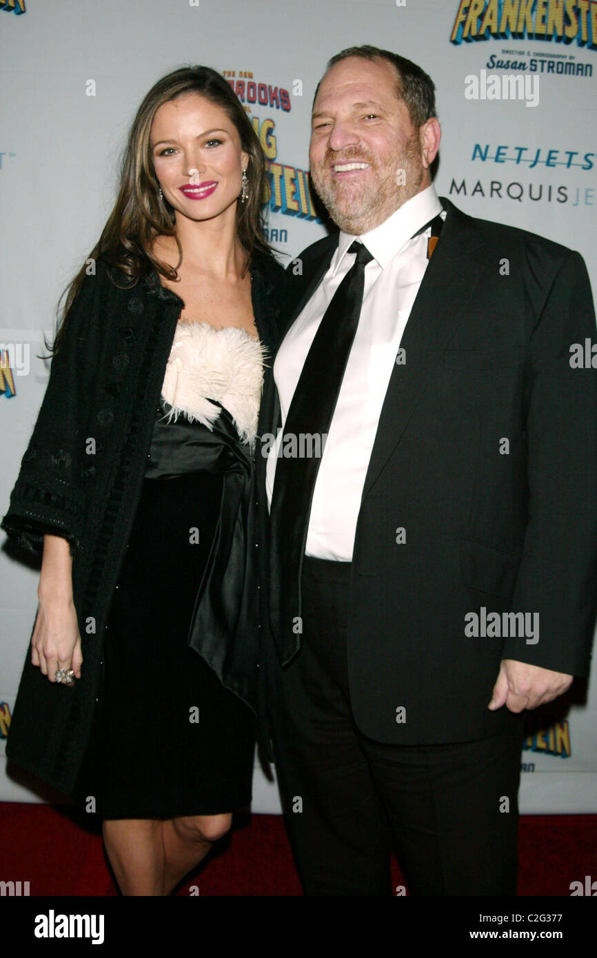 Georgina Chapman Harvey Weinstein Opening Night Of The New Mel Brooks Musical Young Frankenstein At The Hilton Theatre Stock Photo Alamy