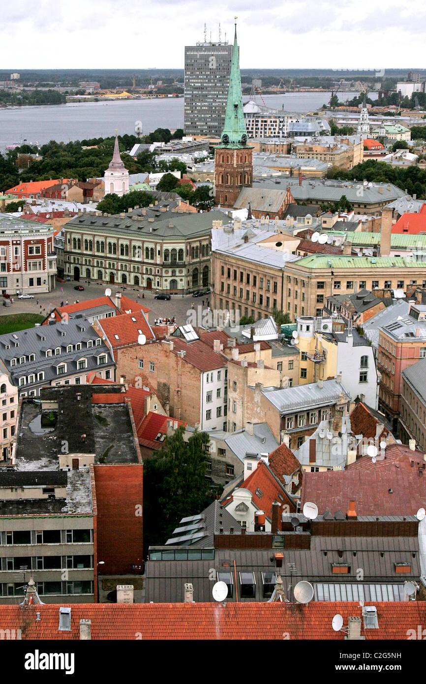 Riga. Letonia. - Stock Image
