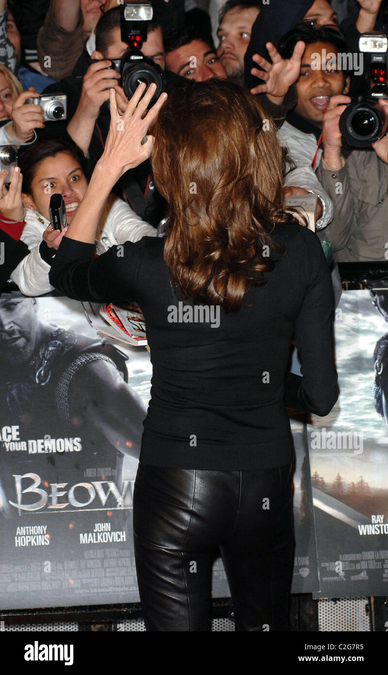 Angelina Jolie UK premiere of 'Beowulf' held at the Vue Leicester