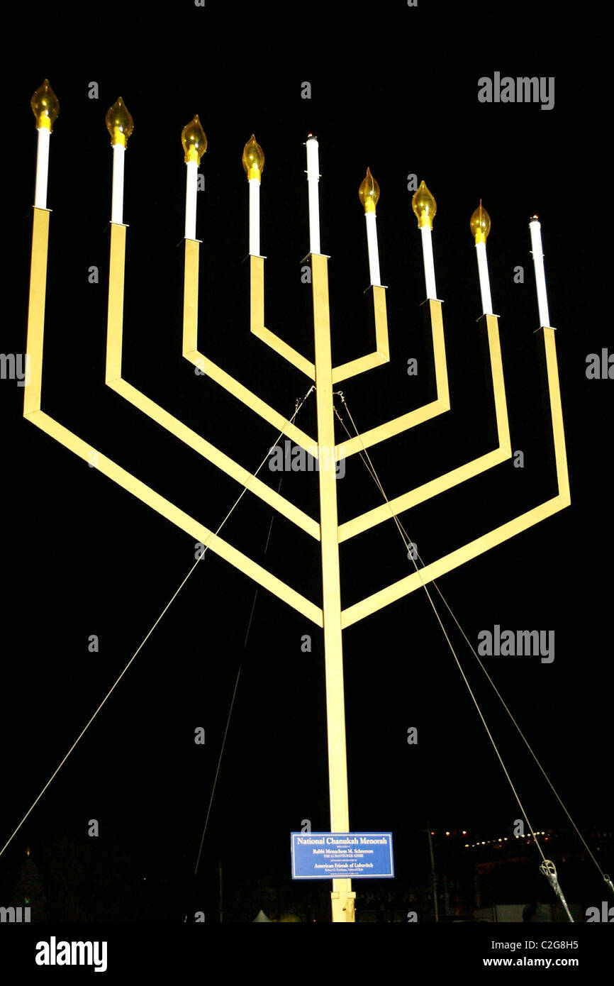 washington dc national hanukkah menorah stock photos washington dc rh alamy com Diagram of the Tabernacle in the Bible Hanukkah Menorah