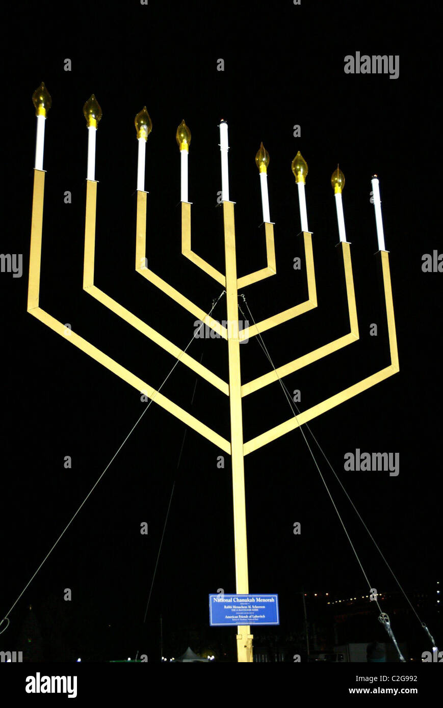 the menorah national hanukkah menorah lighting ceremony at the stock rh alamy com Menorah Drawing Diagram of the Tabernacle in the Bible