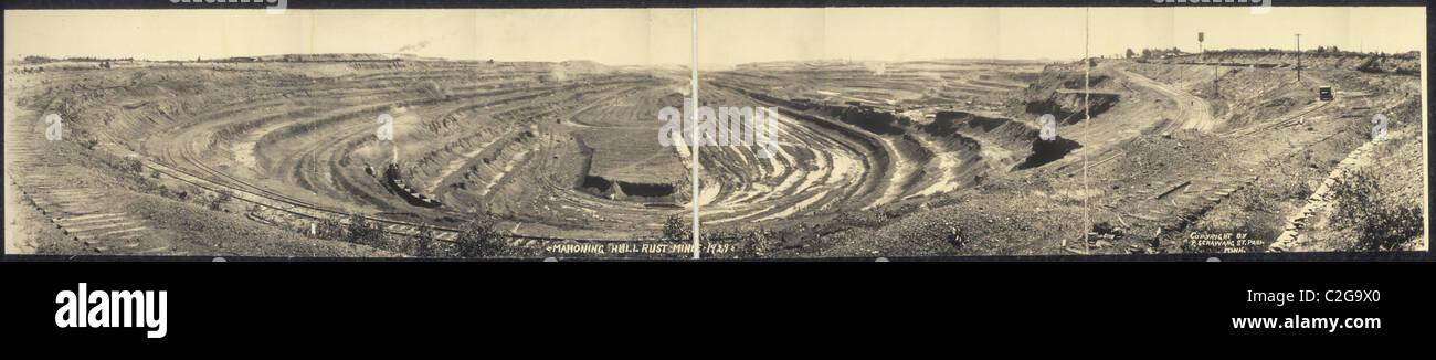 Mahoning Hull Rust Mine, 1929 - Stock Image