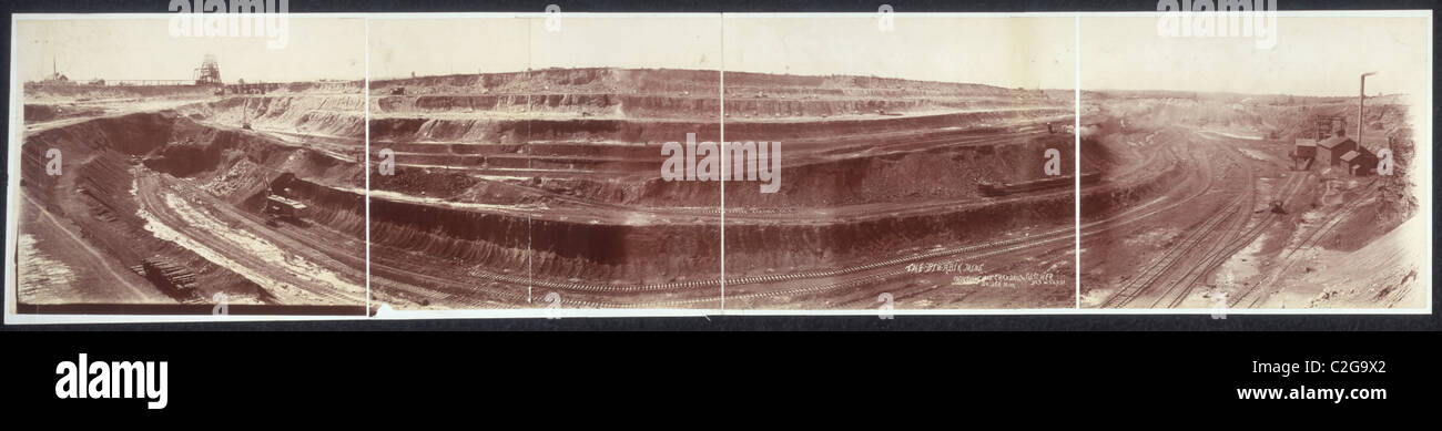 Mahoning Mine, Hibbing, Minn. - Stock Image