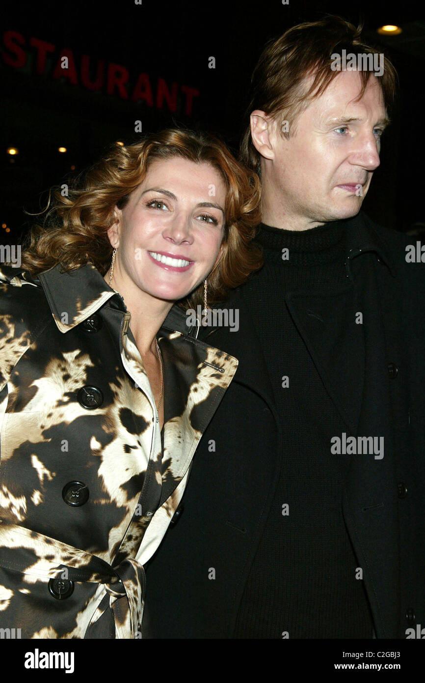 Natasha Richardson & Liam Neeson Opening Night of 'The